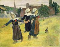 Paul Gauguin (French, 1848–1903). Breton Girls Dancing, Pont-Aven, 1888. Oil on canvas; 73 x 92.7 cm. National Gallery of Art, Washington, Collection of Mr. and Mrs. Paul Mellon 1983.1.19. Image courtesy the Board of Trustees, National Gallery of Art, Washington