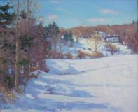 Barbara Lussier, LAA Elected Artist, Winter Shadows, 20x24, Oil on canvas