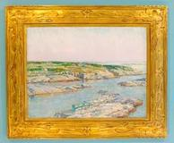 """Summer Afternoon, Isle of Shoals"" by Frederick Childe Hassam in the collection of Blasco Library, Erie Co., Penn."