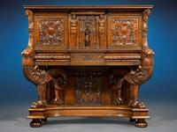 This astonishing 16th-century antique dressoir (or sideboard) was created in Lyon during the height of the French Renaissance, and is the only one of three known examples created that is not held within a museum collection.
