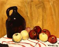 Walt Kuhn (1877-1949 New York, NY), Jug with Apples, Still Life, est:$20,000/30,000