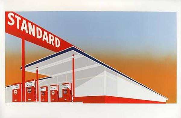 Estimated to bring $30,000-40,000, Standard Station sold for $170,000 - the highest price ever paid for an Edward Ruscha print at auction.