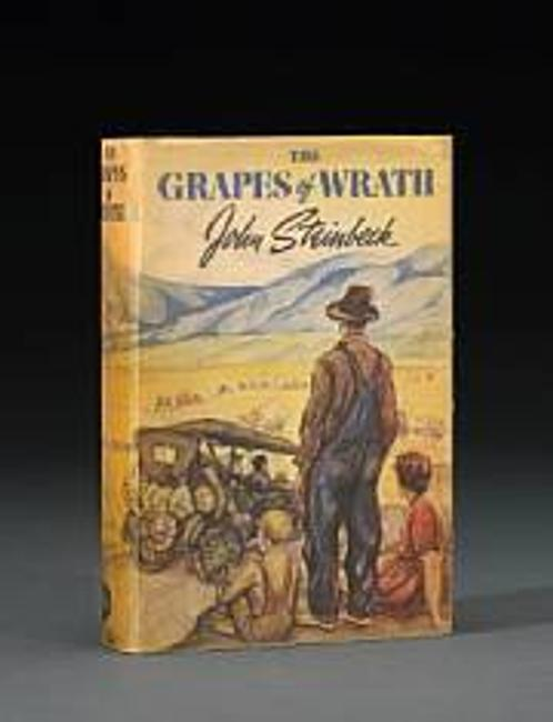 First edition copy of John Steinbeck's The Grapes of Wrath (1939) sold for $45,750 inclusive of Buyer's Premium.