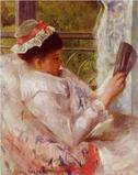 "Mary Cassatt's c.  1878 ""The Reader (Lydia Cassatt)"" from the Crystal Bridges Museum of American Art."