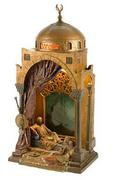 "Estimated at $30/40,000, Franz Bergman's ""Prince & Mandolin Player"" lamp (c.  1900) is undoubtedly one of the highlights of the Matt Wyse collection."