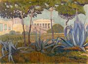 "Constantinos Maleas' (1879-1928) View of the Acropolis was exhibited in Paris in 1919, during a collective exhibition of modern Greek artists of the ""Omada Texnis."" Est.  £200,000-300,000."