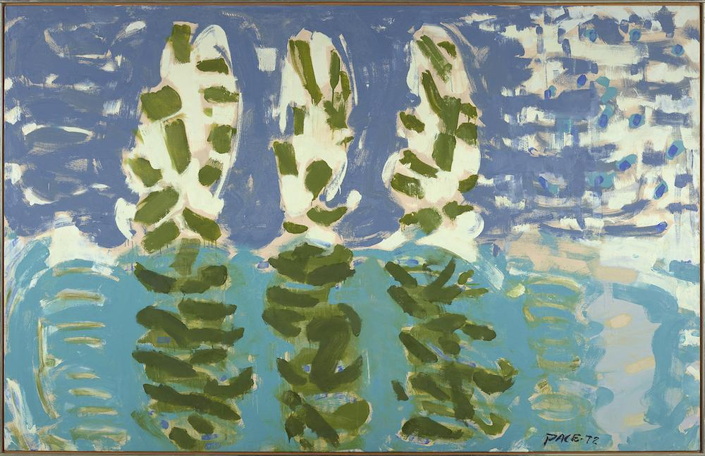 Stephen Pace, Reflections (72-9), 1972, oil on canvas, 55 x 86 1/4 inches.