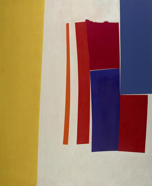 William Perehudoff, Allegro (AC-678-002), 1967, acrylic on canvas, 92 5/8 x 75 1/4 inches.