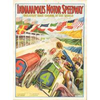 1909 Poster; first race at Indianapolis Motor Speedway