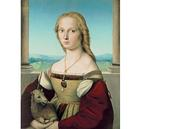 Raphael (1483–1520), Portrait of a Lady with a Unicorn, ca.  1505–06, oil on canvas transferred from panel, 26 5/8 x 20 15/16 in.  (67.7 x 53.2 cm), Galleria Borghese, Rome, inv.  371 1