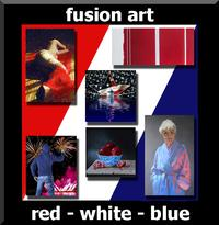 "Fusion Art's ""Red, White & Blue"" International Juried Art Exhibition is now open, www.fusionartps,com"