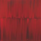 Sylke von Gaza, Red Veil Master Painting 06, 180x180 cm, 2008