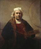 "Rembrandt Van Rijn, ""Portrait of the Artist,"" ca.  1665.  Oil on canvas, 45 x 47 in.  Kenwood House, English Heritage; Iveagh Bequest, 1927 (88028836)"