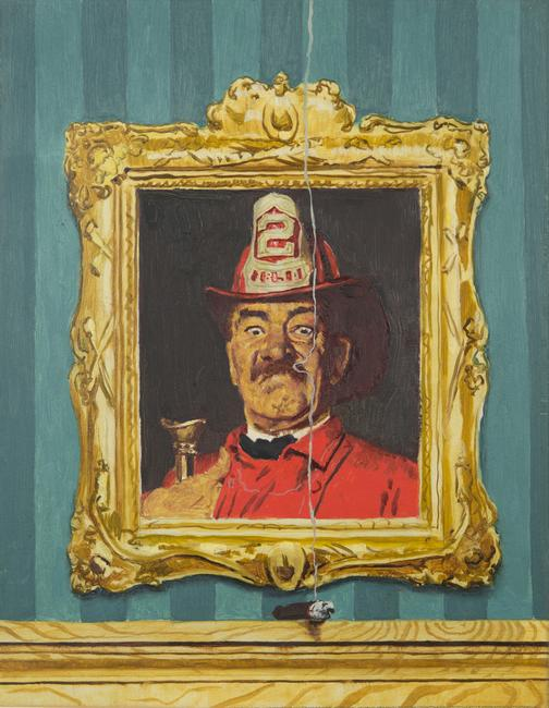 Norman Rockwell, The Firefighter, gouache study