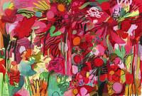 "Dream Flowers, 2013 Oil on canvas, 51 x 76 inches (diptych) Signed and dated lower left: ""Bill Scott 13"""