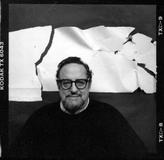 Arnold Newman, Self Portrait: Studio, New York City,1987, 1987 B/W Modern 7 x 7 ¼ inches.  Arnold Newman/Getty Images