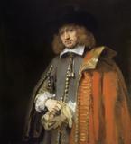 Rembrandt Harmensz van Rijn, Portrait of Jan Six, 1654.  Six collection, Amsterdam
