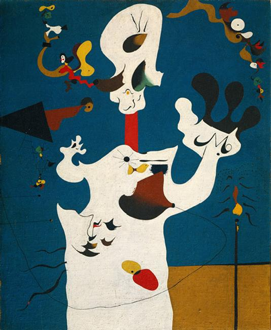 The Potato, 1928, by Joan Miró (Spanish, 1893–1983).  Oil on canvas, 39 3/4 x 32 1/8 in.  (101 x 81.6 cm) Jacques and Natasha Gelman Collection, 1998 (1999.363.50) © 2010 Successió Miró / Artists Rights Society (ARS), New York / ADAGP, Paris
