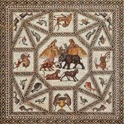 The Lod Mosaic is on loan from the Israel Antiquities Authority and the Shelby White and Leon Levy Lod Mosaic Center.