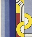 """Roy Lichtenstein's """"Modern Painting with Yellow Interweave"""""""