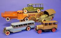Choice Kingsbury toy trucks at Bertoia Auctions