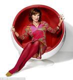 Fiona Bruce in Pucci. BBC photo.