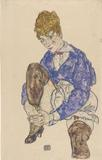 Egon Schiele, Portrait of the Artist's Wife Seated, Holding Her Right Leg The Morgan's holdings of modern and contemporary drawings are expanding rapidly and include masterworks from Picasso to Ellsworth Kelly.