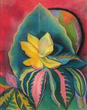 Joseph Stella (1877-1946) Tropical No.  1, c.  1937-38.  Pastel on paper, 25 x 18 3/4 inches.  Courtesy of Menconi & Schoelkopf Fine Art, LLC