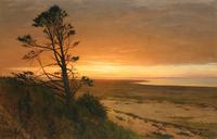 "Lockwood de Forest (1850 - 1932) Montauk, Long Island, signed lower left, oil on canvas, 30"" x 48"""