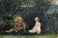 Winslow Homer, Scene at Houghton Farm, 1878, Watercolor and pencil on paper.