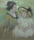 "Mary Cassatt, ""Simone Seated on the Grass Next to Her Mother"" , Est.  $200,000-$700,000"