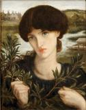 Dante Gabriel Rossetti (1828–1882), Water Willow, 1871.  Oil on canvas, glued to wood.  Delaware Art Museum, Samuel and Mary R.  Bancroft Memorial, 1935