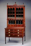 Seymour desk and bookcase, 1798-1808, mahogany, reverse painted glass, photo courtesy White House Historical Association.
