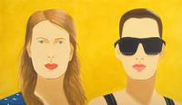 "Alex Katz, Sharon and Vivien, 2009, oil on linen, 84x144"", Art © 2009 Alex Katz/Licensed by VAGA, New York, NY"