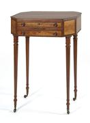 Sheraton Work Table sold for $18,000 in Eldred's Fall Americana Auction.