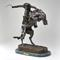 "Lot 125: After Frederic Remington (1861-1909), Bronze, ""Bronco Buster"", $400-600"