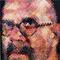 Chuck Close, Self Portrait, 2000.  58 1/4 x 48 inches; presale estimate $80,000 – 120,000