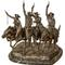 Frederic Remington bronze titled Coming Through the Rye, one of Remington's all-time classic sculptures, 20 inches tall, #22 of 100 (est.  $4,000-$6,000).