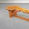 "RARE ENGLISH OAK BURL SLED-BASED COFFEE TABLE, 1982.  VERY RARE SLED-BASED COFFEE TABLE WITH SPECTACULAR AND UNCOMMON ENGLISH OAK BURL TOP AND BASE, 1982.  62"" WIDE X 21"" DEEP X 14"" HIGH"