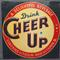 This colorful Cheer Up soft drink sign is one of many antique advertising items that will come under the gavel Oct.  15th in Lynbrook, N.Y.