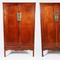 Pair of 18th century Chinese Huanghuali Square Corner Cabinets