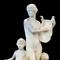 Carved marble grouping of a young woman playing a lyre harp with two children at her side, by Albert Weinert (Am., 1863-1947), 78 inches tall, signed and dated 1924 (est.  $40,000-$80,000).