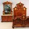 Gorgeous rosewood Victorian bedroom suite, made by the renowned 19th century New York cabinetmaker Pottier & Stymus.