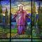 "Louis Comfort Tiffany, New York, Come Unto Me, 1924, Favrile glass; 72"" x 76"""
