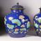 "A pair of Qing dynasty Chinese Porcelain Fahua ""Lotus"" Jars and Covers,"