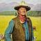 Norman Rockwell (1894-1978), John Wayne, oil on canvas, 38 x 31, Estimate: $1,000,000-$1,500,000, Sold: $1,496,000