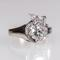 Lot 296 A Platinum & 14kt White Gold Diamond Ring.