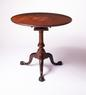 A Pennsylvania mahogany ball & claw foot tea table with suppressed ball standard, Circa 1770.