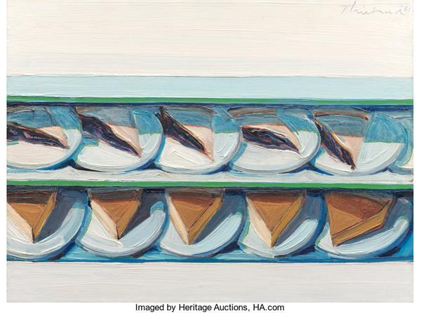 Notable sales included Blueberry Custard, 1961, by Wayne Thiebaud, which set a house record for its most expensive piece of Modern and Contemporary Art at $3,255,000.