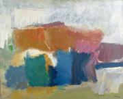 Yvonne Thomas.  Highway, 1957.  Oil on canvas.  50 x 62 inches